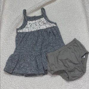 Baby gap heather grey dress with lace accent